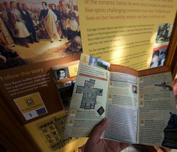 Lord Byron tour leaflet