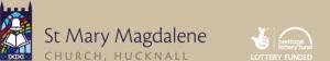 St Mary Magdalene church logo, Heritage Lottery Fund logo