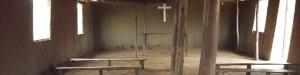 Interior of a typical church in Burundi