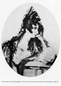 Picture of Augusta Mary Leigh, Lord Byron's half sister c.1820