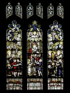 CE Kempe stained glass in the baptistry, 1891