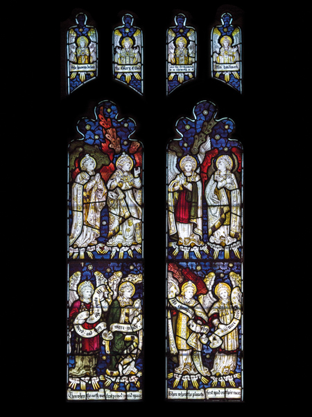CE Kempe stained glass in the north aisle, 1896