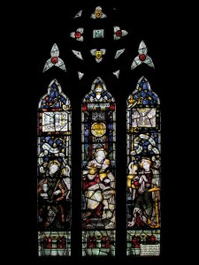 CE Kempe stained glass in the north transept, 1893