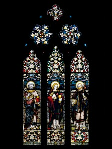 St Peter, St John and St James the Great, by an unknown artist, in the south transept.