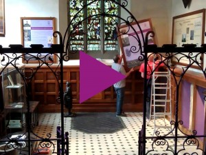 Time-lapse of the installation of the heritage displays in the old baptistry
