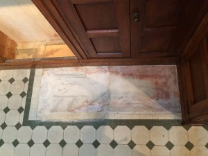 Repair to the baptistry floor