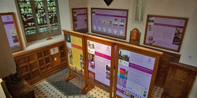 Picture of interpretation panels from above