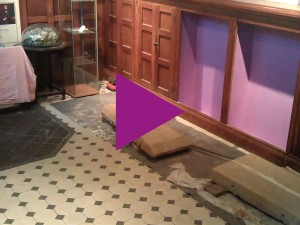 Time-lapse of restoration of our mediaeval coffin lids heritage