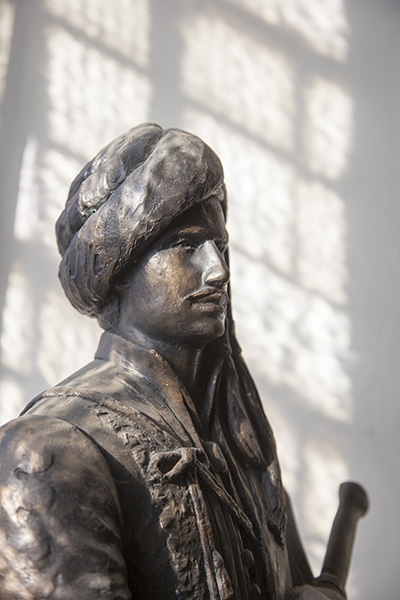Bronze statue of Lord Byron, baptistry