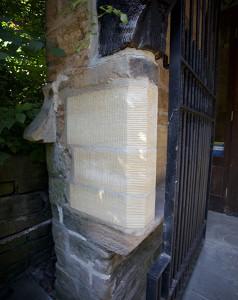 New stonework to porch corner