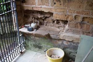 Main door porch area stonework replacement