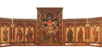 Picture showing the high altar Reredos in its open position