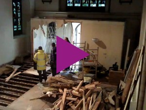 Time-lapse of the south transept build process
