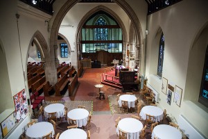 South transept refreshments area, before new build