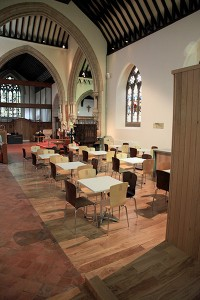New refreshments area and furniture in south transept