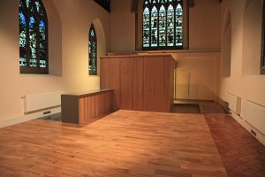 New floor, toilets, lobby and kitchen serving area in south transept