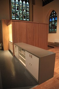 New kitchen and serving area in south transept