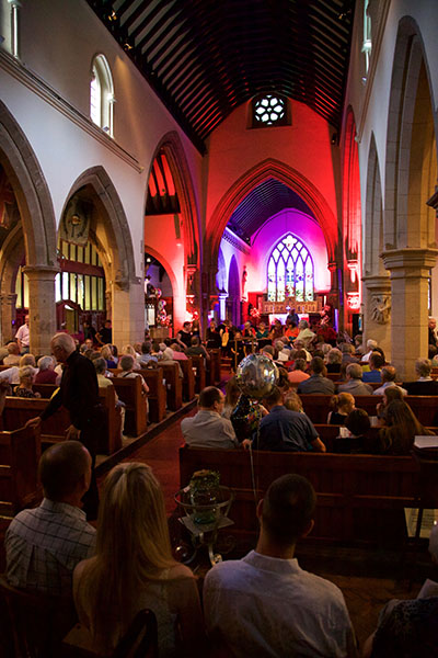 View down the nave at the Torkard Ensemble 5th anniversary concert