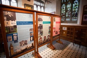 New interpretation displays and artefacts in the baptistry