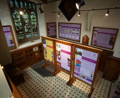 New interpretation displays in the baptistry