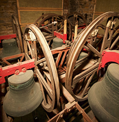 The bell chamber at St Mary Magdalene church, Hucknall