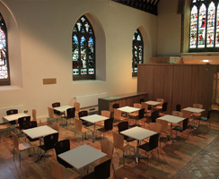 The refurbished south transept refreshments area