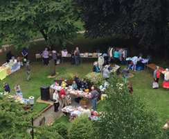 Aerial view of the summer fair from the tower