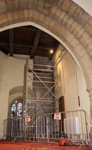Removing the clock weight chamber from inside the tower