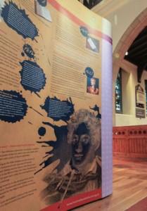 Poet Lord Byron interpretive display