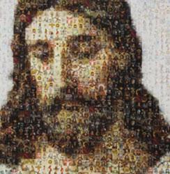 Close up of Jesus interpretive display