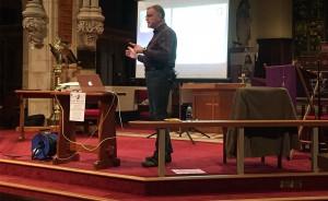David Heathcote giving a talk on Ada Lovelace's 200th Anniversary