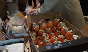 Oranges ready for Christingle 2015