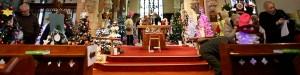 Christmas Tree Festival at St Mary Magdalene church, Hucknall