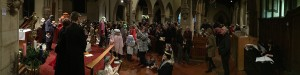 Our packed crib service 2015 at St Mary Magdalene church, Hucknall