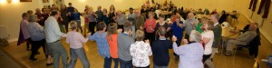 'Doing the hokey-cokey' at the Harvest Festival Supper event