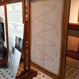 Installation of heritage interpretation panels in baptistry