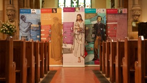 Installation of heritage interpretation pull-up banners