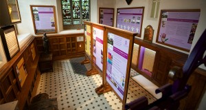 Installation of heritage interpretation panels in baptistry