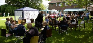 New curate James Pacey's welcome party in the rectory garden