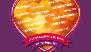 John Godber Centre, Hucknall, 110th Anniversary celebration graphic