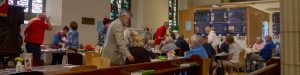 Big Breakfast charity breakfast event at St Mary Magdalene church, Hucknall