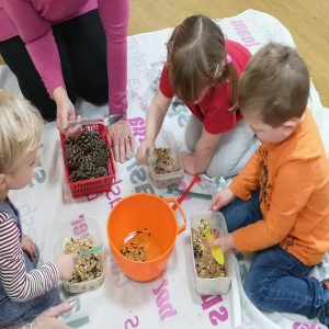 making our bird feeders
