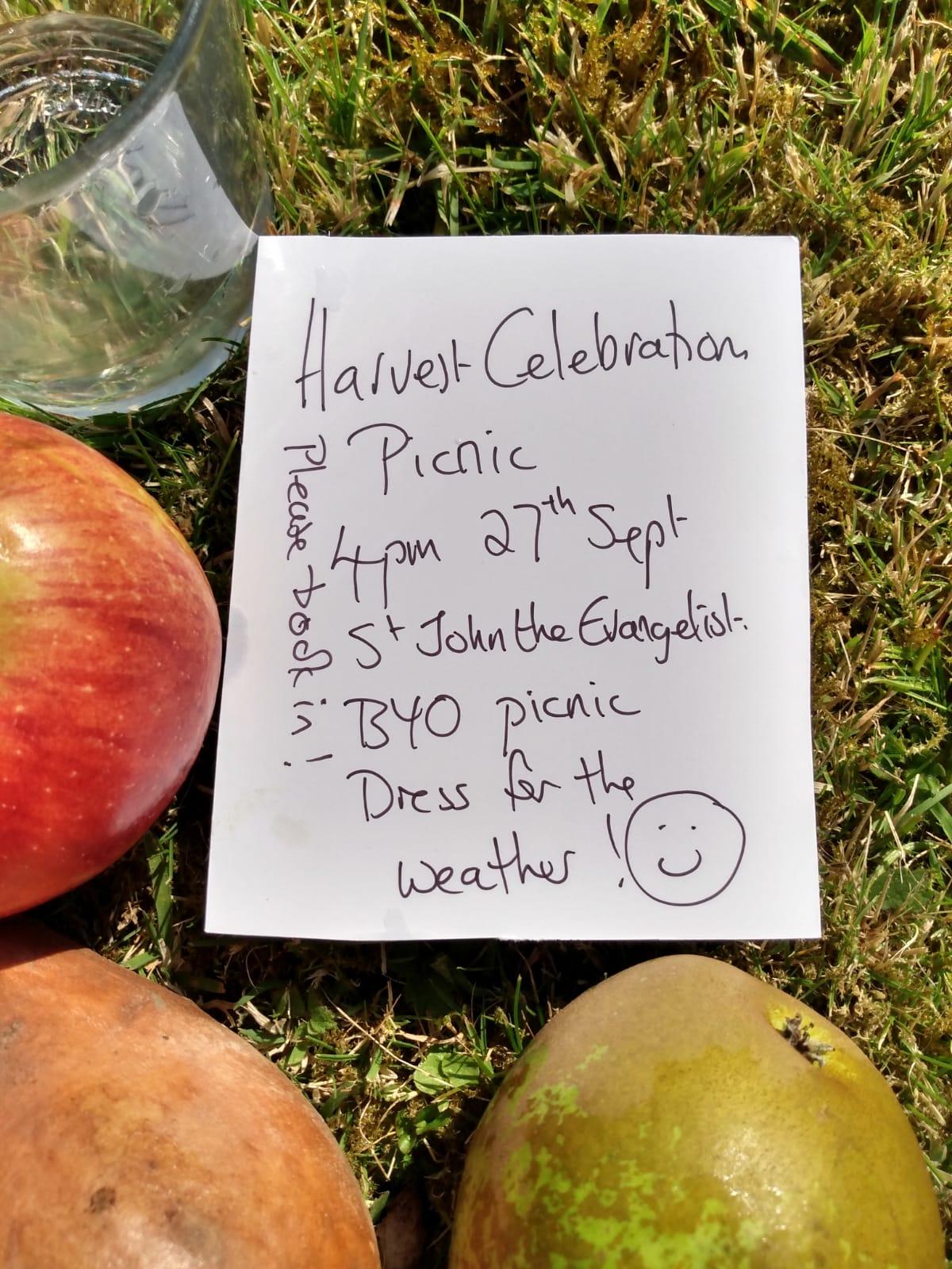 Harvest picnic at St John the Evangelist church, Hucknall