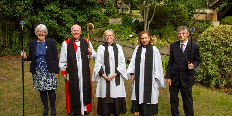 Induction service of Revd Helen Chantry by Bishop of Southwell and Nottingham The Right Reverend Paul Williams and Archdeacon of Newark The Venerable Victoria Ramsey